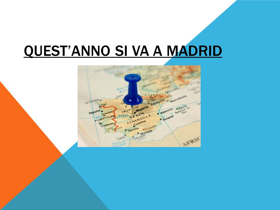 QUEST'ANNO SI VA A MADRID