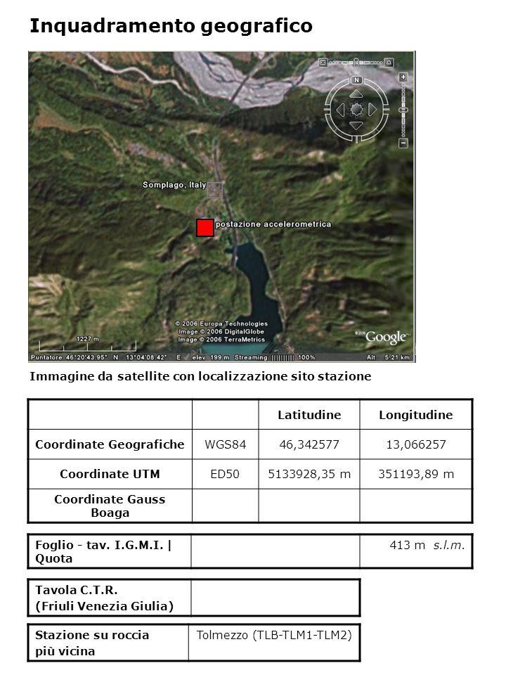Dati acquisiti dalla stazione Stazione di Somplago codice strumento N° di registrazioni acquisite PGA max registrata [cm/s 2 ] Data evento in cui si è registrata il max valore di accelerazione SMG1 22,849 03/04/1077 SMT3 108,167 16/09/1977 SMU 2185,34616/09/1977