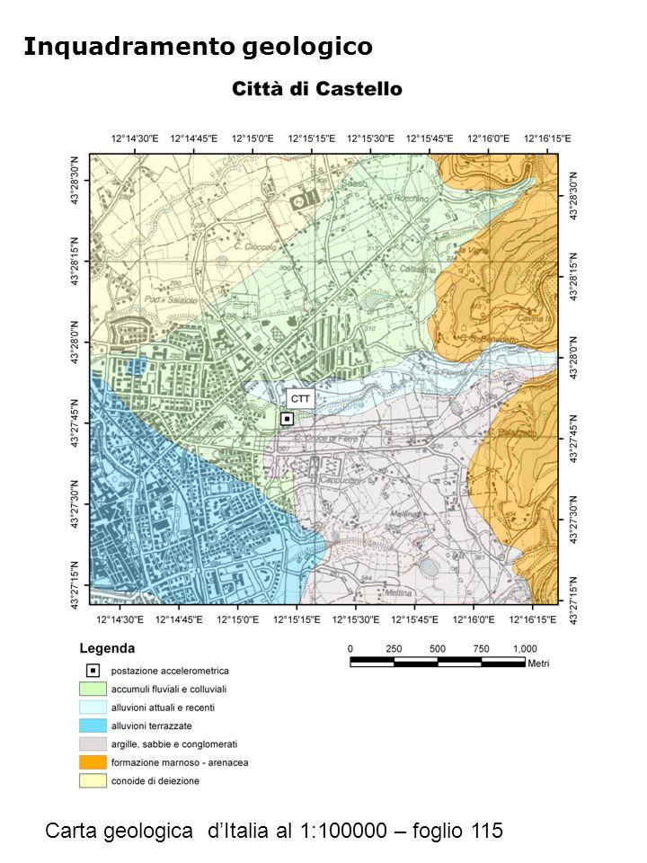 Riferimenti Geologia Carta geologica d'Italia al 1:100000 – foglio 115