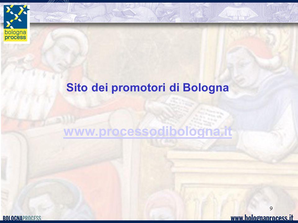 9 Sito dei promotori di Bologna www.processodibologna.it