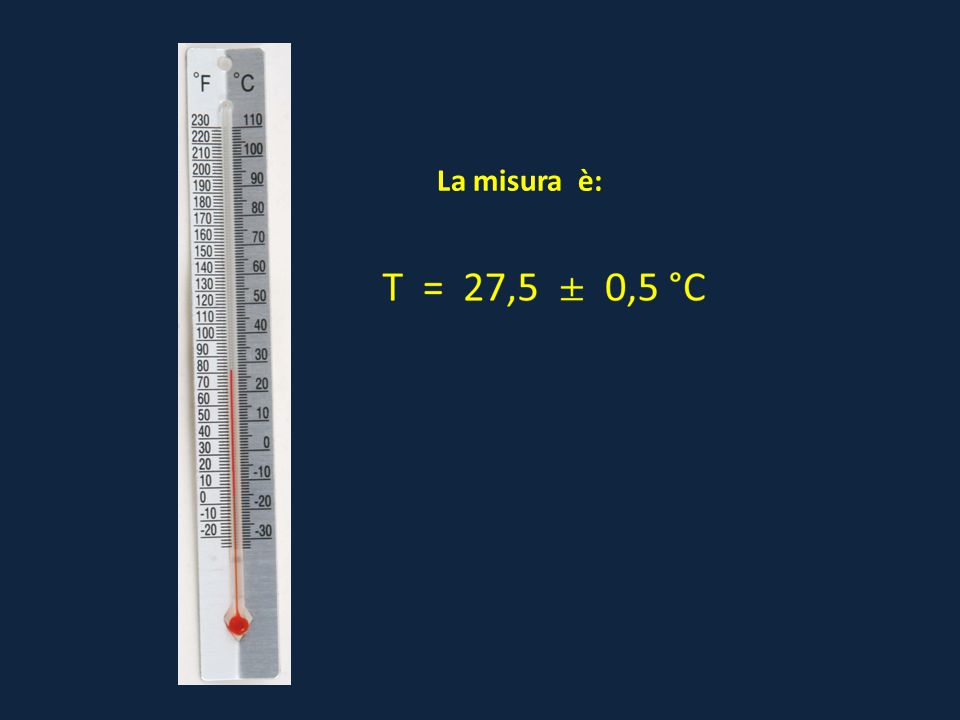 La misura è: