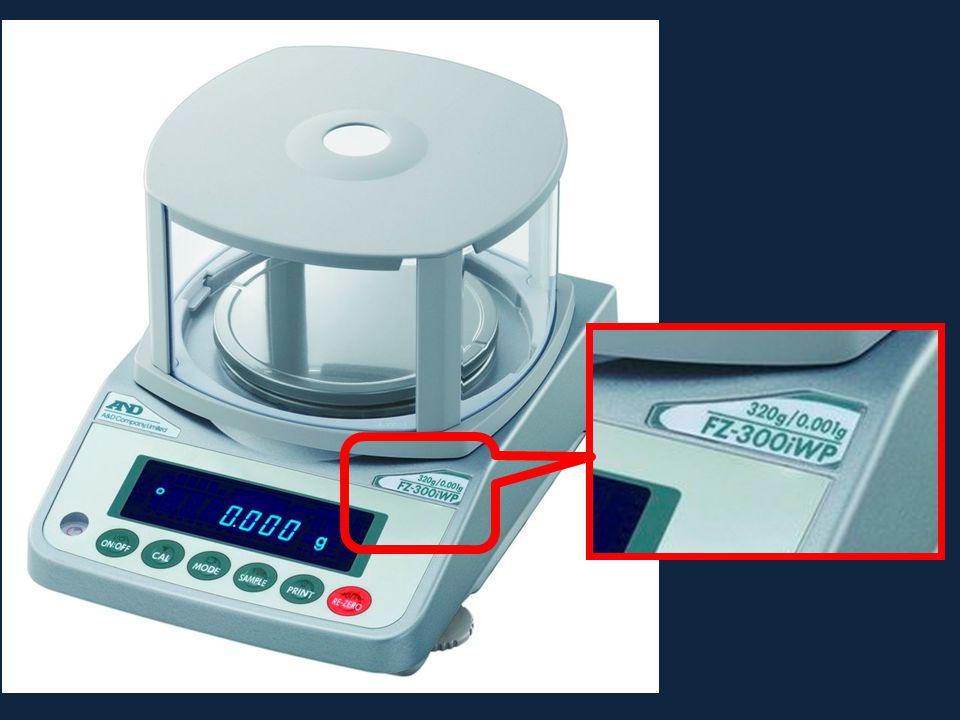 portata sensibilità 1 mm = 0,1 cm cm Unità di misura