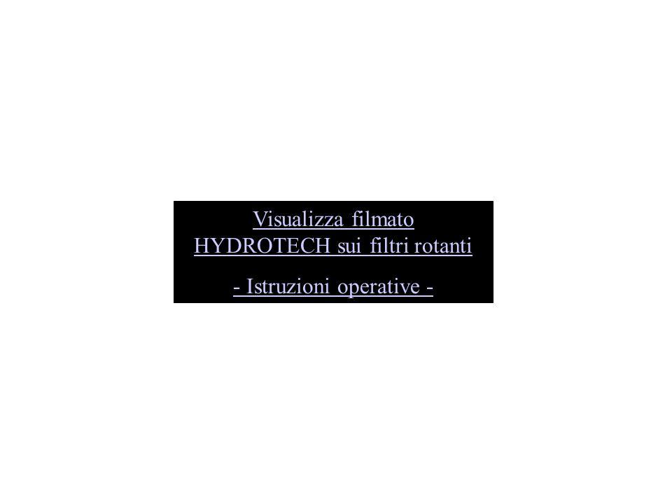 Visualizza filmato HYDROTECH sui filtri rotanti - Istruzioni operative -