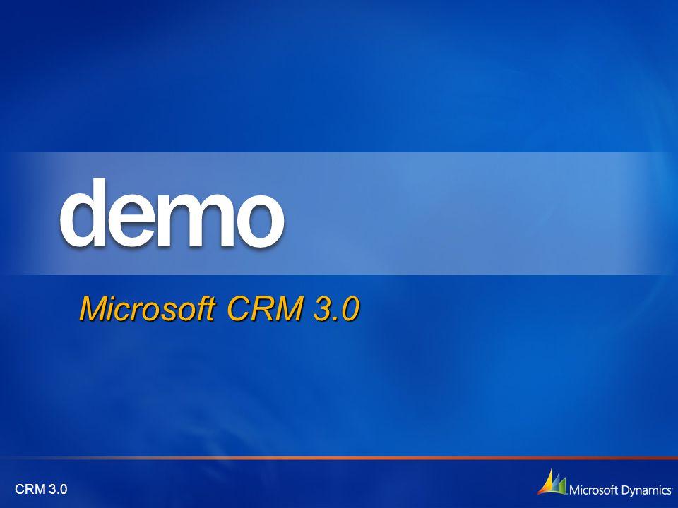 CRM 3.0 Microsoft CRM 3.0