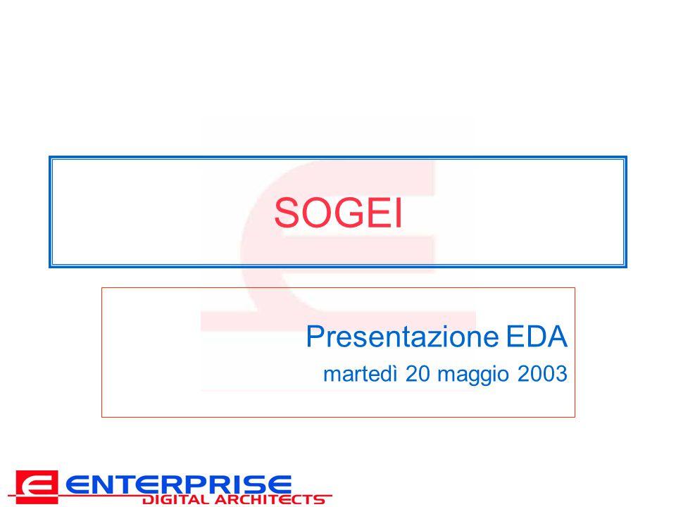 SOGEI Presentazione EDA martedì 20 maggio 2003