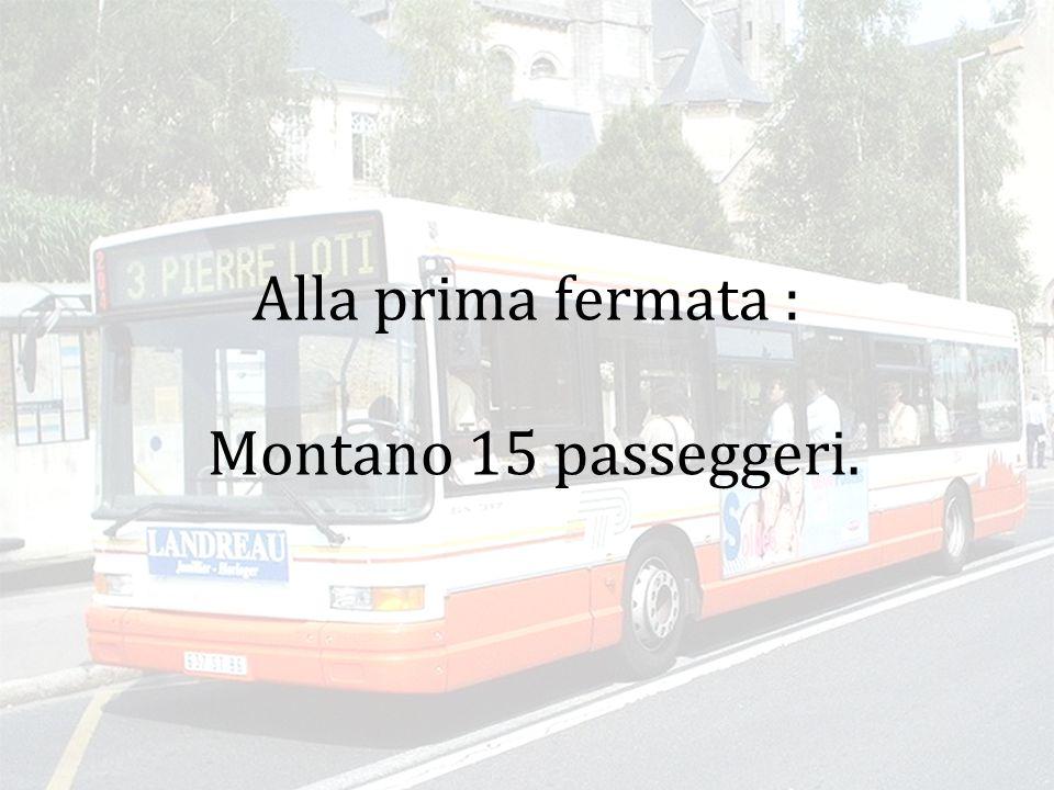 Alla prima fermata : Montano 15 passeggeri.