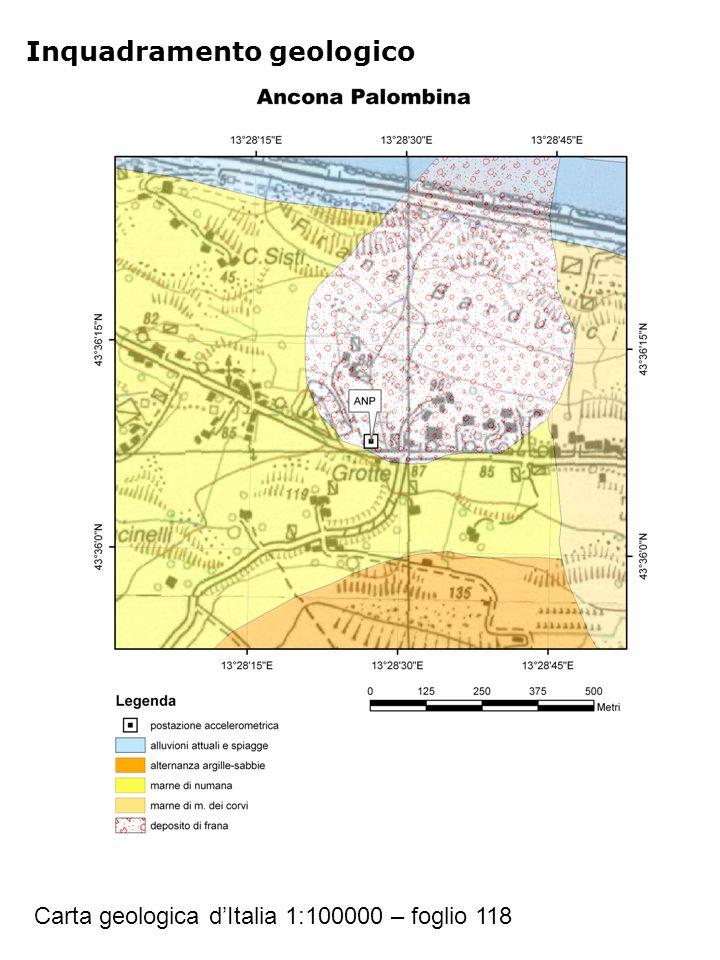 Inquadramento geologico Carta geologica d'Italia 1:100000 – foglio 118