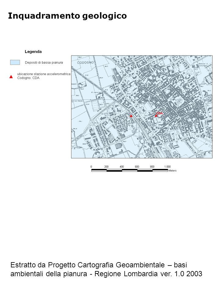 Inquadramento geologico Estratto da Progetto Cartografia Geoambientale – basi ambientali della pianura - Regione Lombardia ver. 1.0 2003