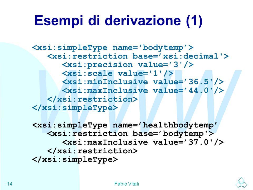 WWW Fabio Vitali14 Esempi di derivazione (1)