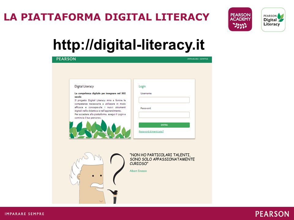 LA PIATTAFORMA DIGITAL LITERACY http://digital-literacy.it