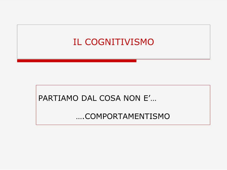 COMPORTAMENTISMO  ASSOCIAZIONISMO  NEUROFISIOLOGIA