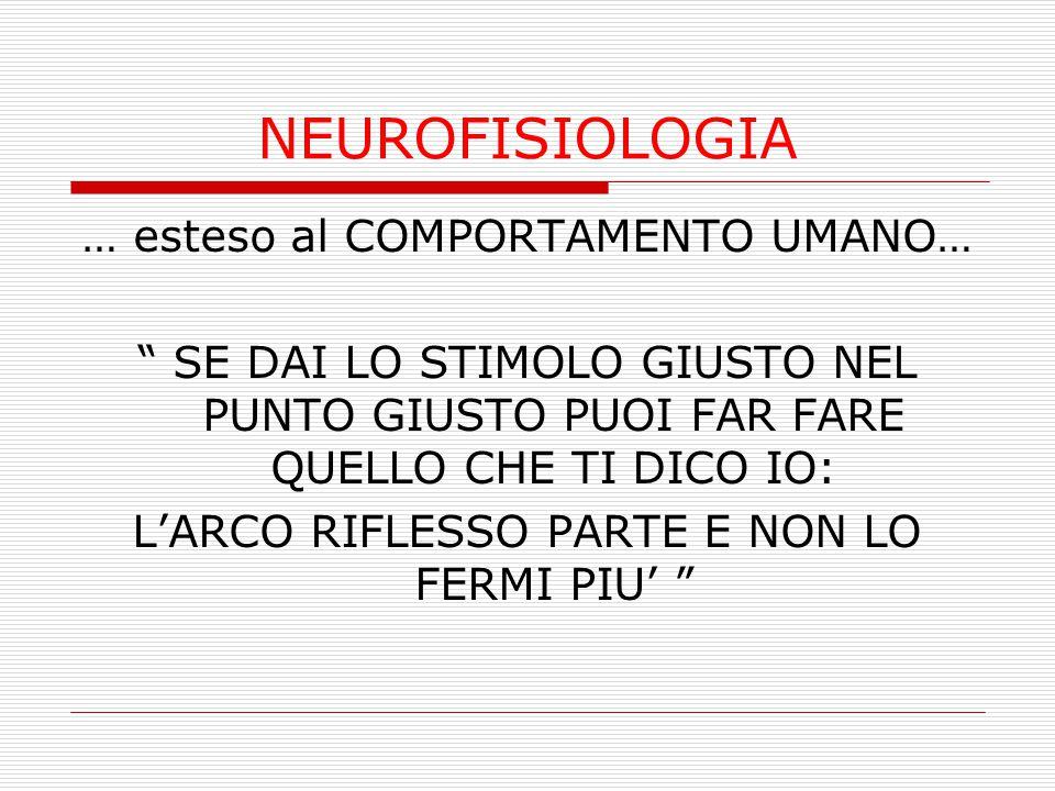 """NEUROFISIOLOGIA … esteso al COMPORTAMENTO UMANO… """" SE DAI LO STIMOLO GIUSTO NEL PUNTO GIUSTO PUOI FAR FARE QUELLO CHE TI DICO IO: L'ARCO RIFLESSO PART"""