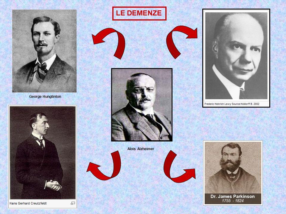 George Hungtinton Alois Alzheimer LE DEMENZE