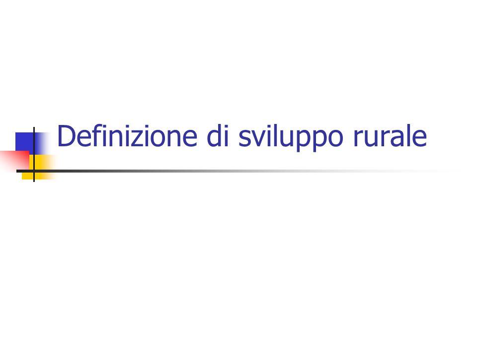 Definizione di sviluppo rurale