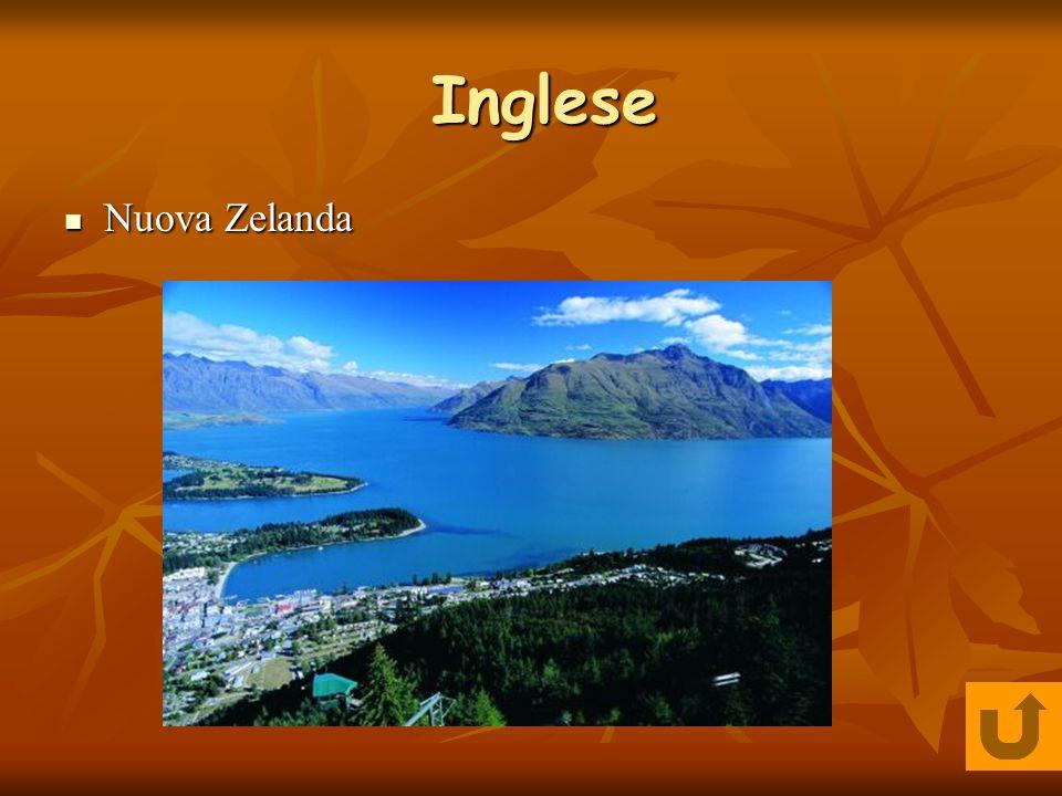 Inglese Nuova Zelanda Nuova Zelanda