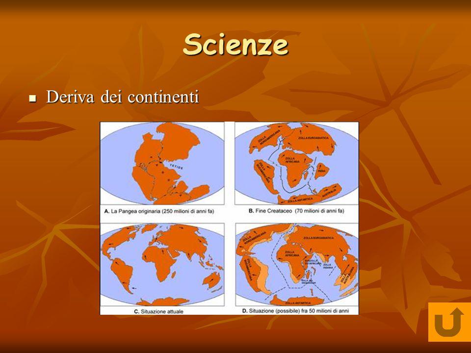 Scienze Deriva dei continenti Deriva dei continenti
