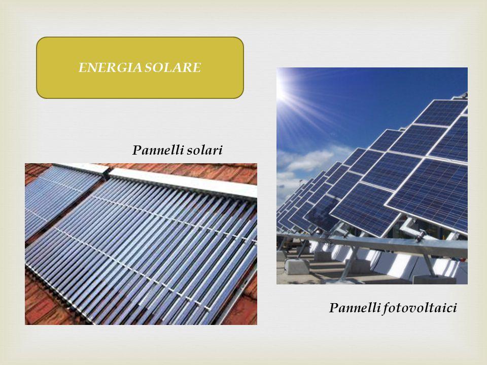 ENERGIA SOLARE Pannelli fotovoltaici Pannelli solari