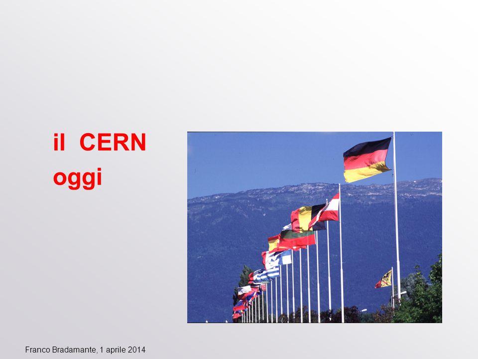 Franco Bradamante, 1 aprile 2014 il CERN oggi