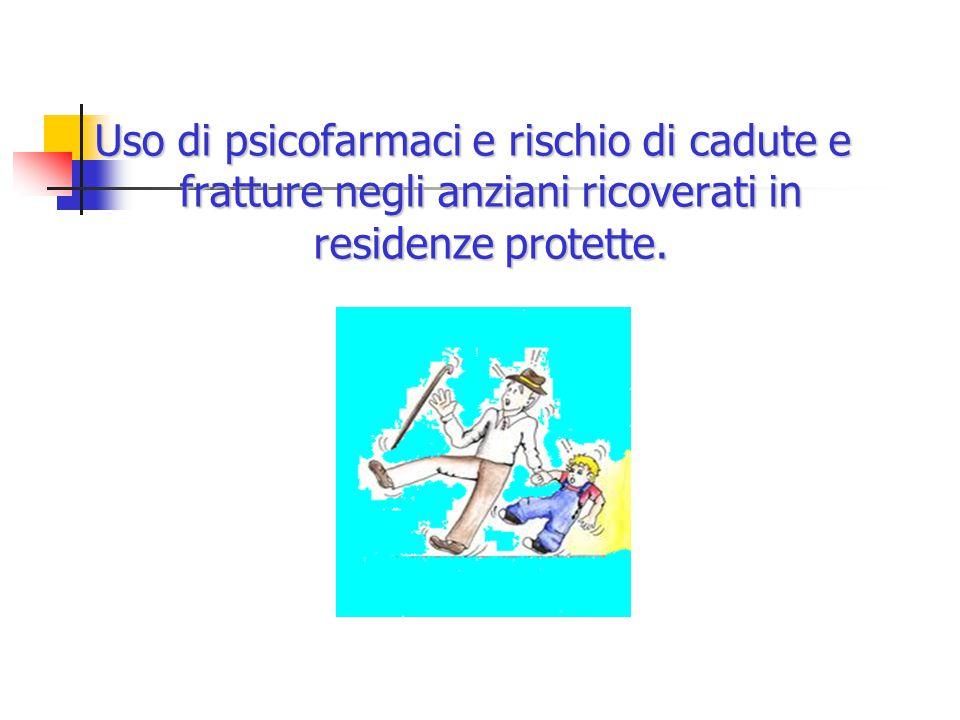 Uso di psicofarmaci e rischio di cadute e fratture negli anziani ricoverati in residenze protette.