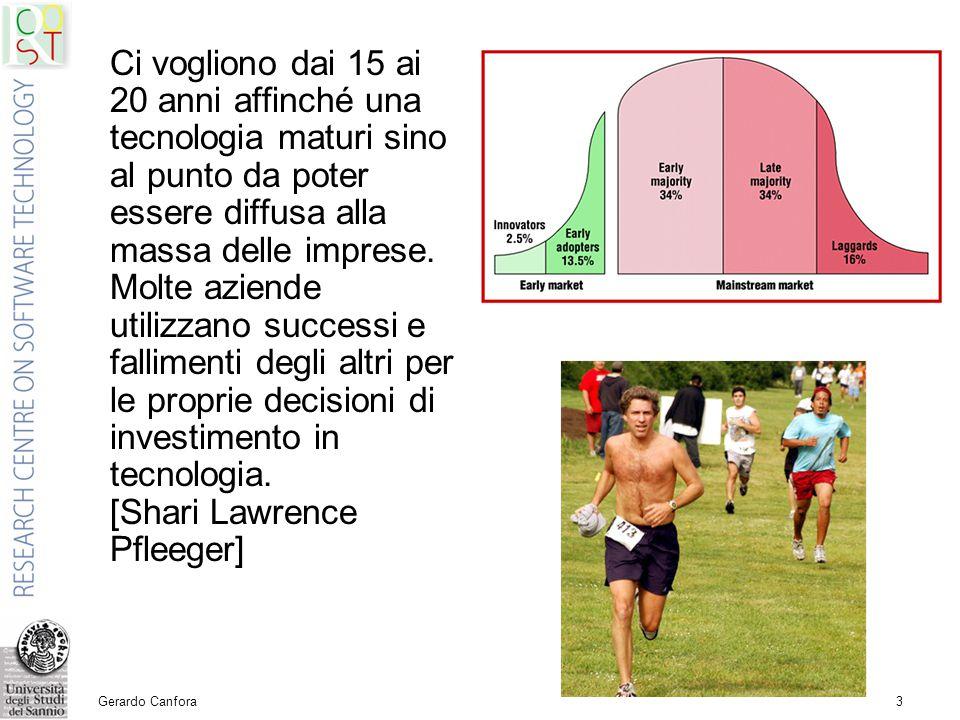 Gerardo Canfora3 Ci vogliono dai 15 ai 20 anni affinché una tecnologia maturi sino al punto da poter essere diffusa alla massa delle imprese.