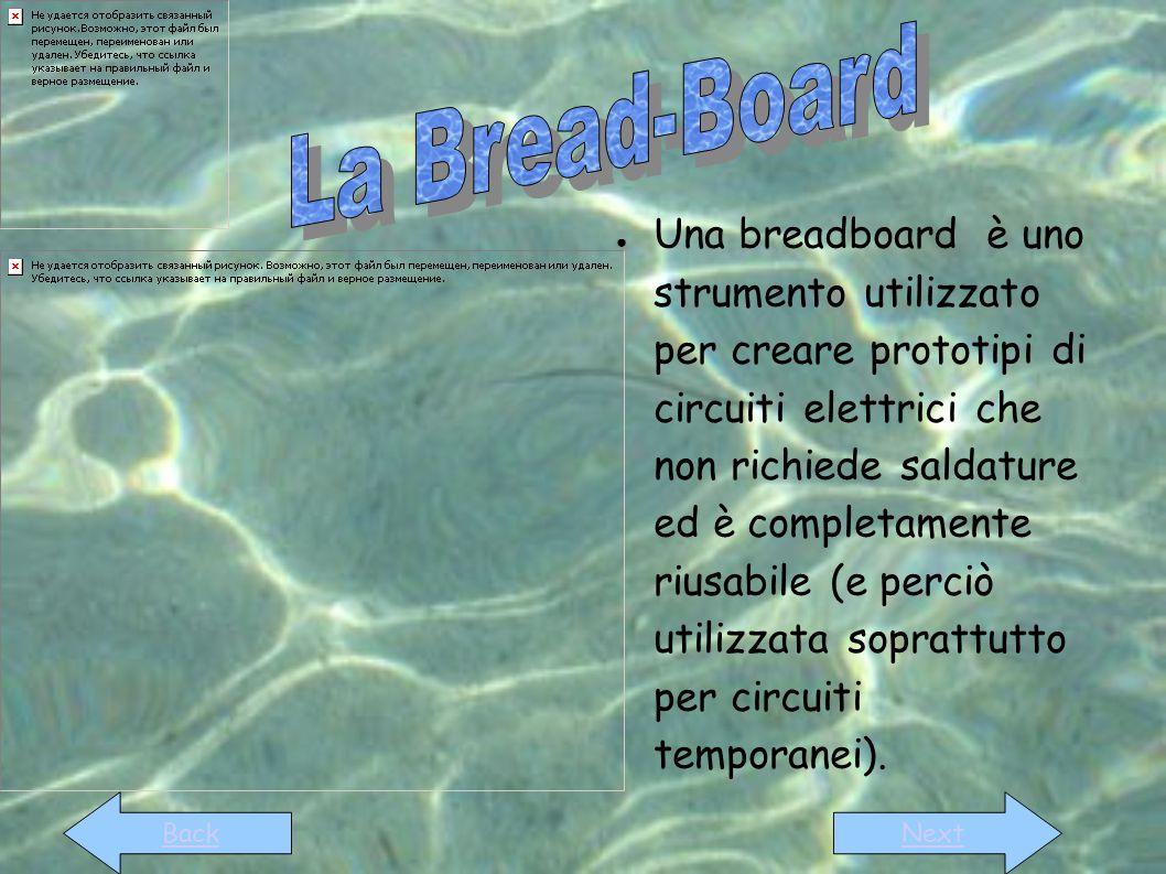 ● Una breadboard è uno strumento utilizzato per creare prototipi di circuiti elettrici che non richiede saldature ed è completamente riusabile (e perc