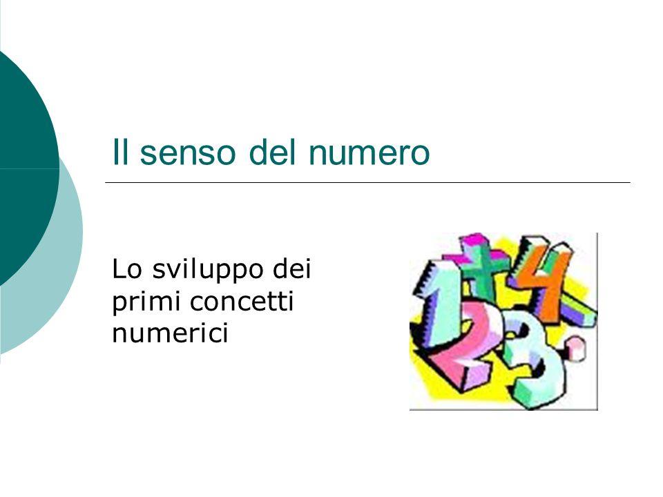 Il senso del numero Lo sviluppo dei primi concetti numerici