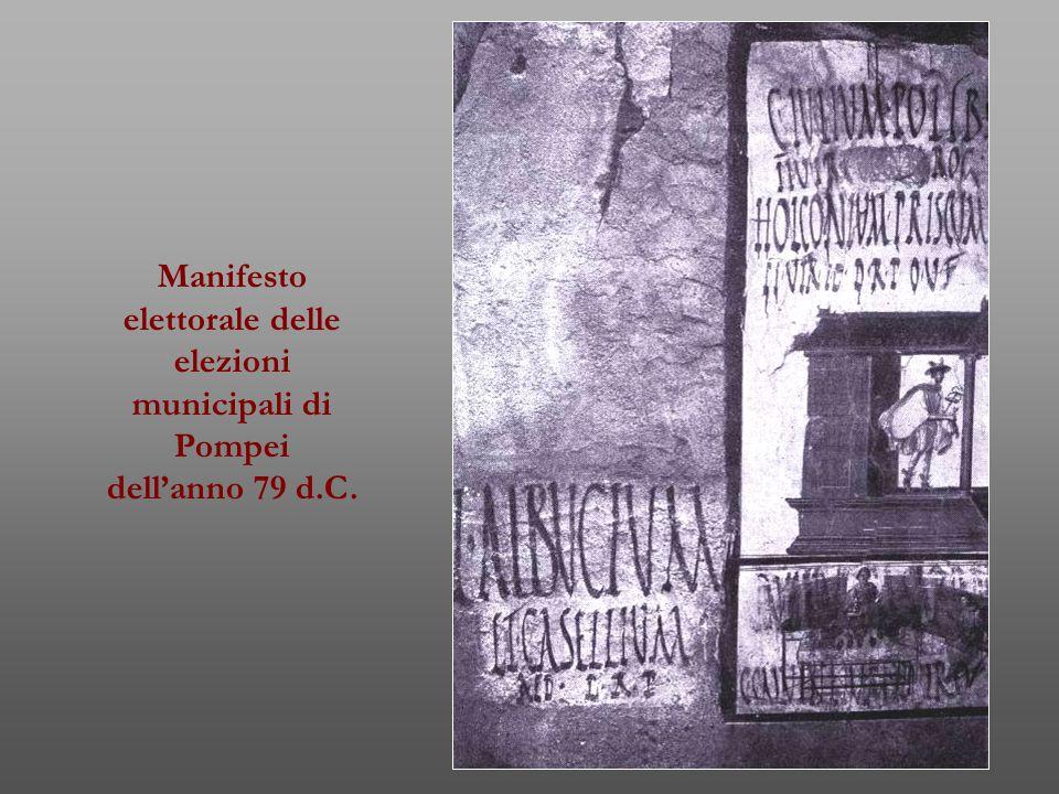 Manifesto elettorale delle elezioni municipali di Pompei dell'anno 79 d.C.