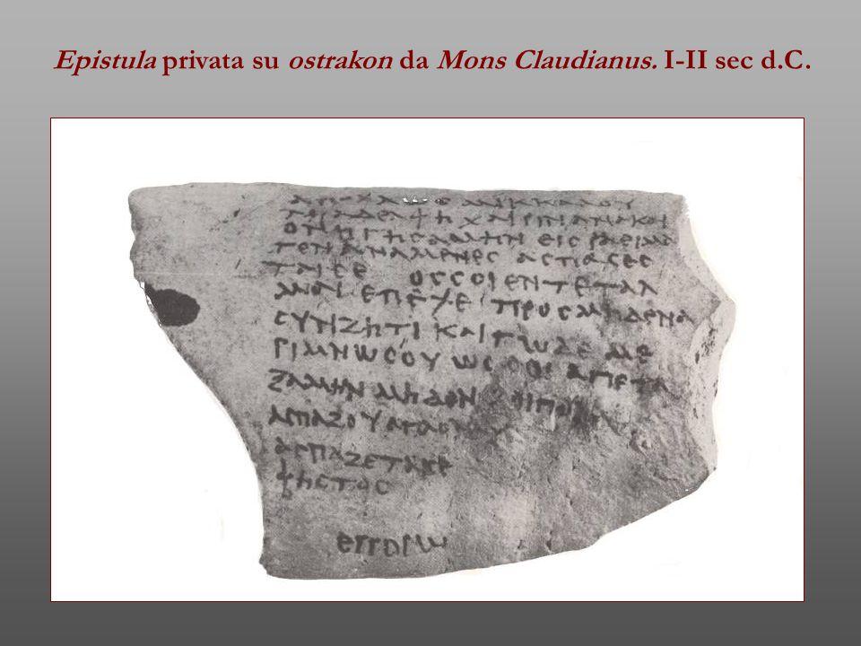 Epistula privata su ostrakon da Mons Claudianus. I-II sec d.C.