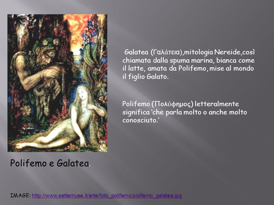 Polifemo e Galatea.