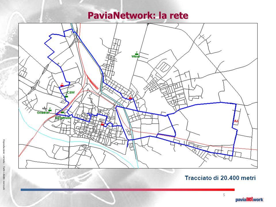 Riproduzione vietata – Tutti i diritti riservati 5 PaviaNetwork: la rete Tracciato di 20.400 metri