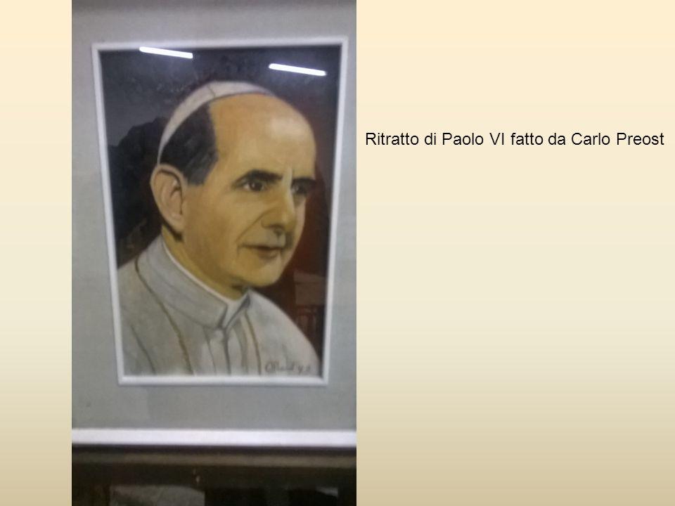 Ritratto di Paolo VI fatto da Carlo Preost