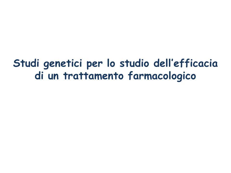 Studi genetici per lo studio dell'efficacia di un trattamento farmacologico