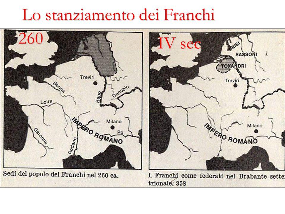 260 IV sec Lo stanziamento dei Franchi
