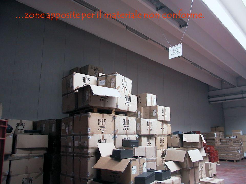 …zone apposite per il materiale non conforme.