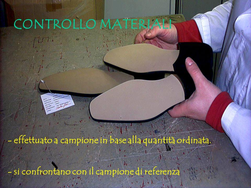 Tutti i componenti di una calzatura sono sottoposti a controllo qualità.