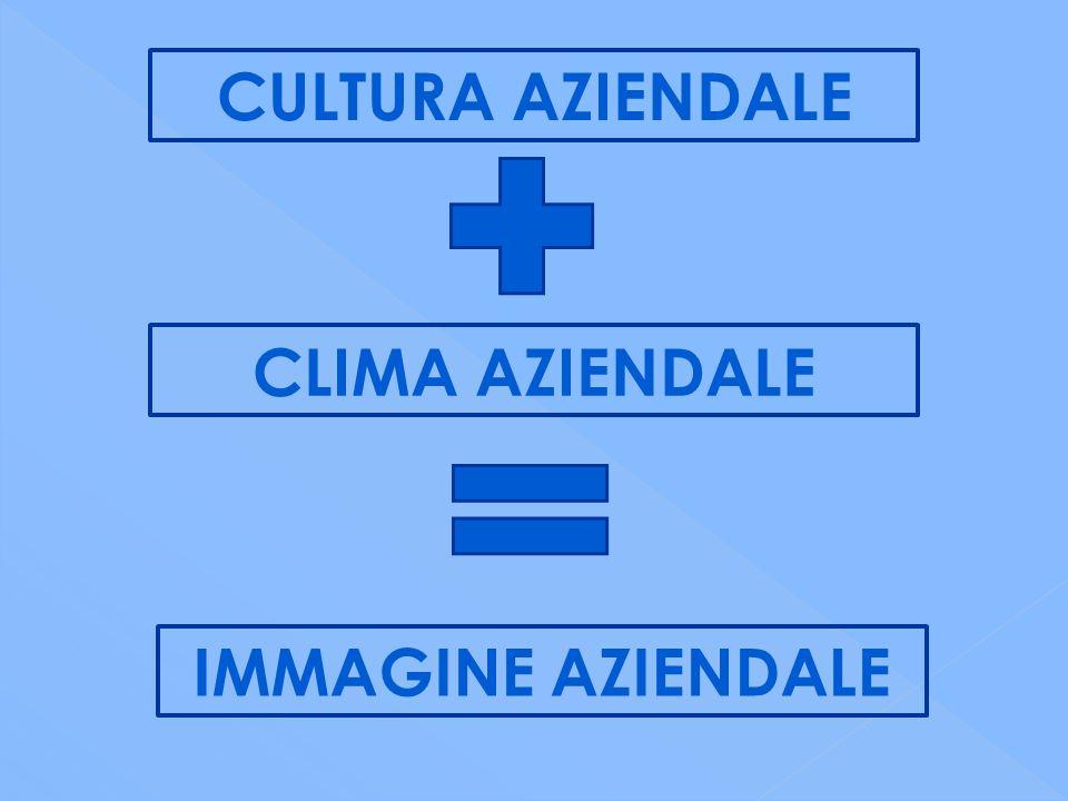 CULTURA AZIENDALE CLIMA AZIENDALE IMMAGINE AZIENDALE