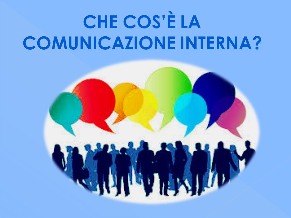 CHE COS'È LA COMUNICAZIONE INTERNA