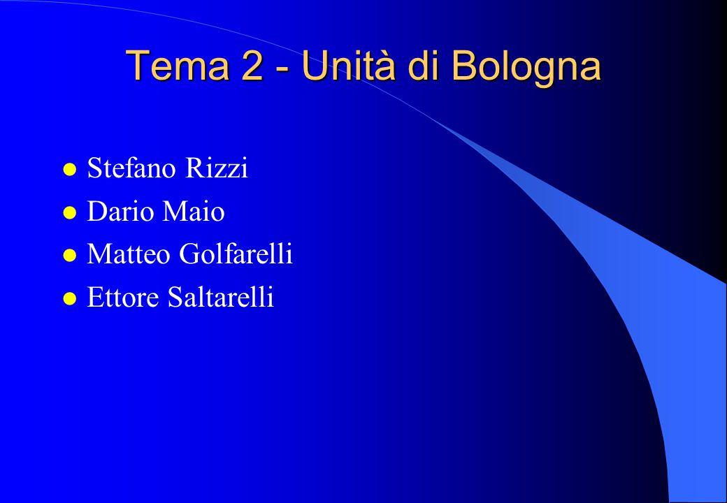 Tema 2 - Unità di Bologna l Stefano Rizzi l Dario Maio l Matteo Golfarelli l Ettore Saltarelli