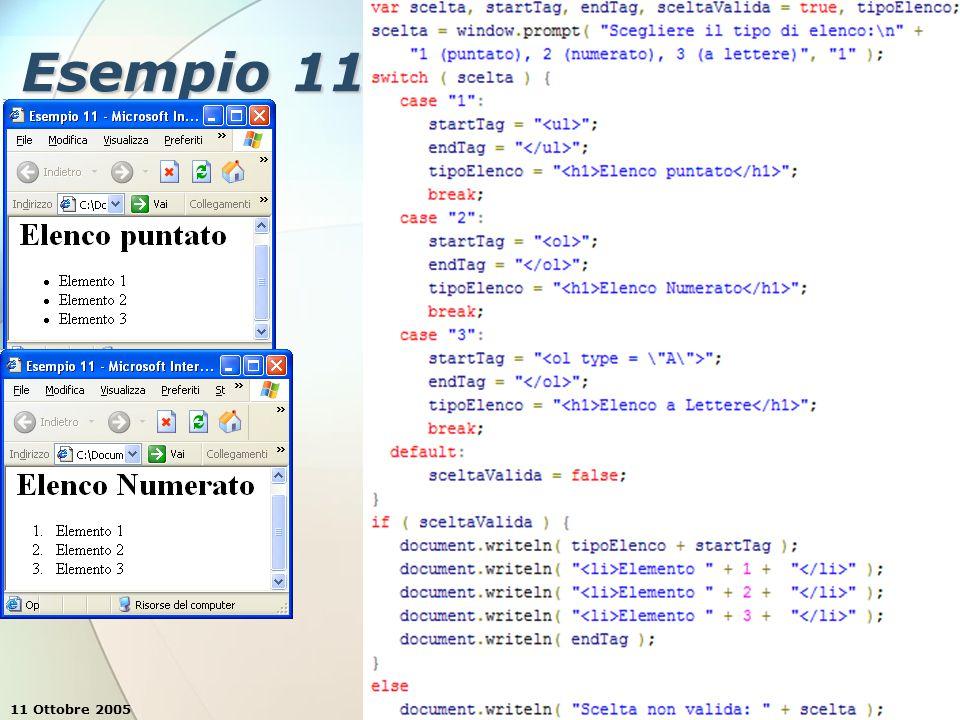 11 Ottobre 2005Stefano Clemente49 Esempio 11