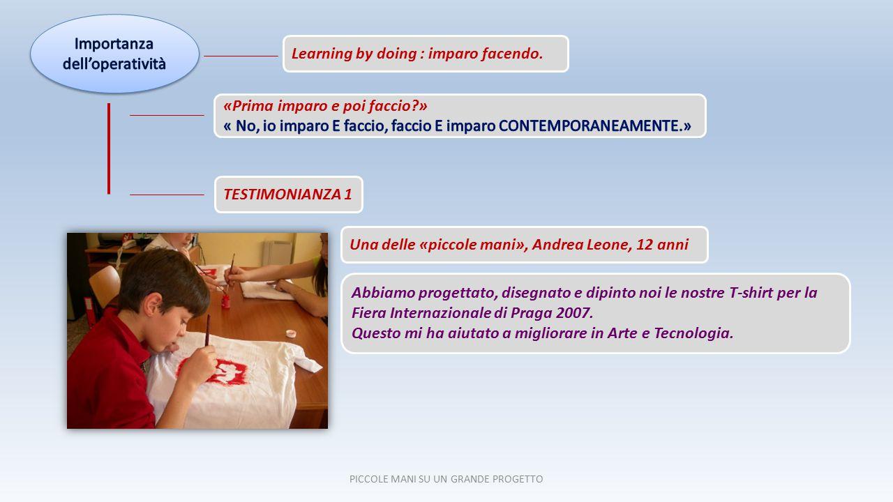 18 ITALIANO LINGUE STRANIERE GEOGRAFIAMATEMATICASCIENZE STORIA INFORMATICAMUSICATECNOLOGIA STORIA PICCOLE MANI SU UN GRANDE PROGETTO ARTE Simulazione d'Impresa e Curricolo scolastico SIMULAZIONE D'IMPRESA
