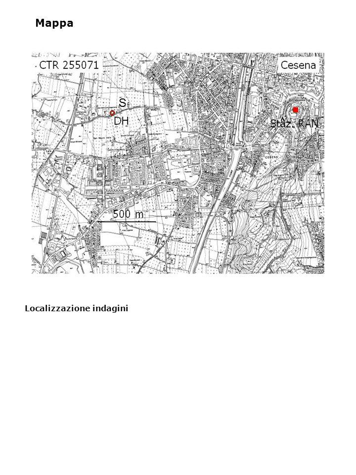 Caratterizzazione geologica Substrato costituito dalla Formazione a Colombacci (Messiniano superiore), facies conglomeratica; conglomerati poligenici in matrice arenacea, in strati metrici talora lenticolari, spesso poco evidenti, talora associati a strati arenacei; la Formazione a Colombacci poggia in discordanza sui depositi evaporitici messiniani; questi depositi continentali e di transizione poggiano sui depositi di avanfossa (Marnoso-Arenacea) della successione romagnola; in questa zona il tetto della successione carbonatica è stimato ad oltre 3000 m di profondità dal piano campagna.
