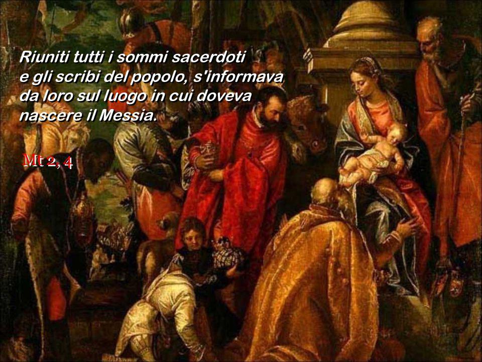 All'udire queste parole, il re Erode restò turbato e con lui tutta Gerusalemme. All'udire queste parole, il re Erode restò turbato e con lui tutta Ger