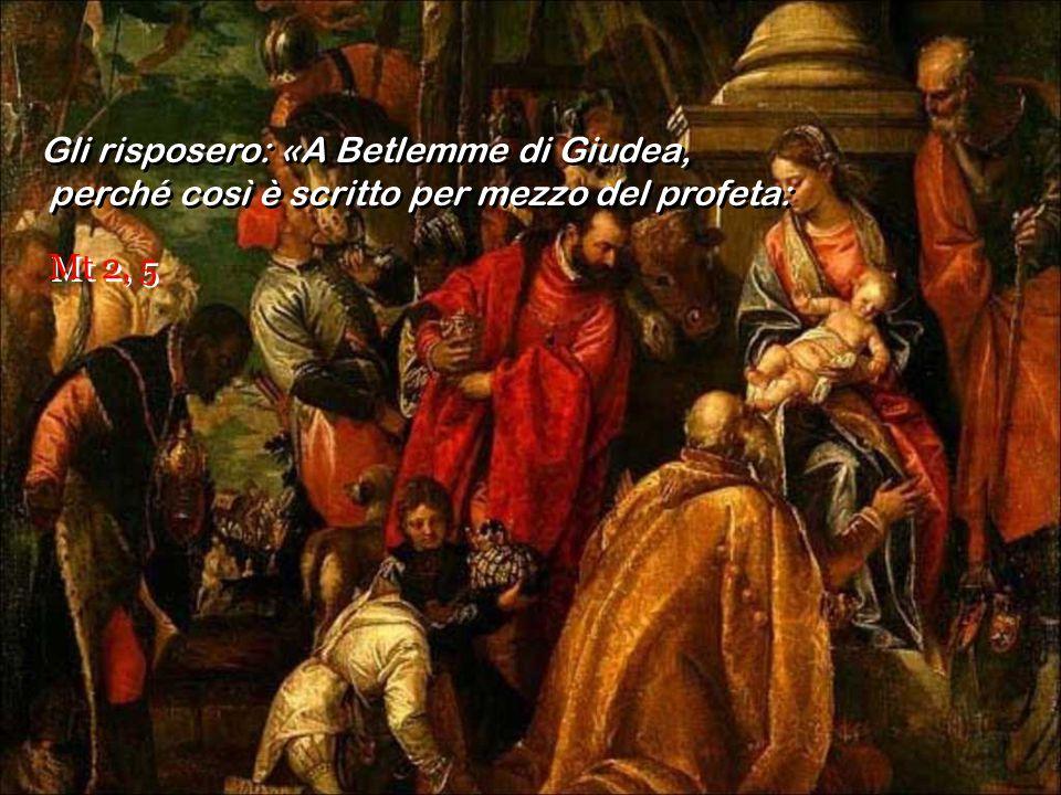 Riuniti tutti i sommi sacerdoti e gli scribi del popolo, s'informava da loro sul luogo in cui doveva nascere il Messia. Riuniti tutti i sommi sacerdot