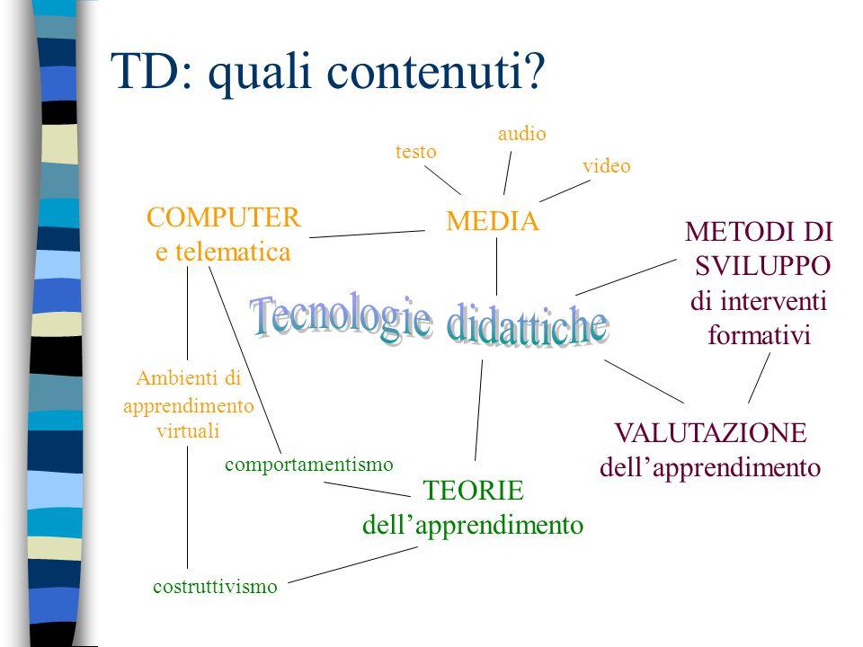 TD: quali contenuti.