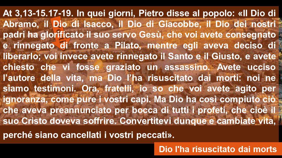 LA FORZA DEL RISORTO 1a lett.: Dopo la Risurrezione di Gesù, Pietro, in vergogna per le negazioni, ha una forza che sorprende.