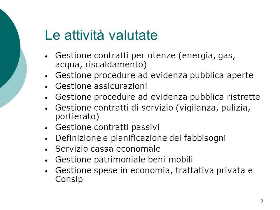13 L'efficacia e i costi unitari di tutte le strutture Milano Padova Firenze Trento e Polimi sono gli atenei che presentano il miglior rapporto qualità / costi E