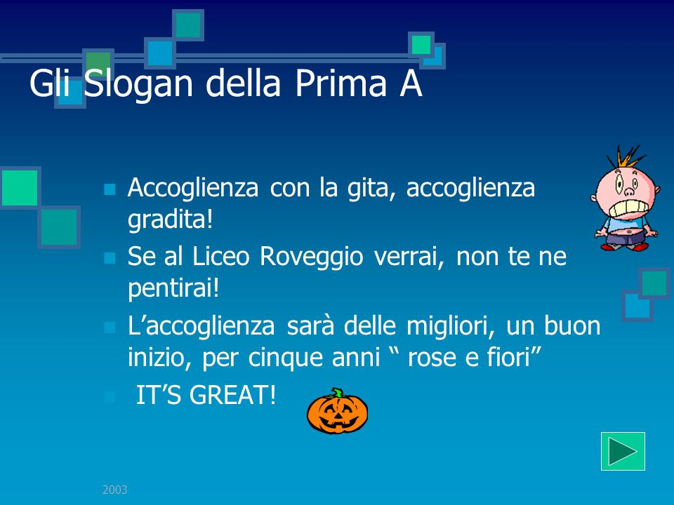 """2003 Progetto Accoglienza Liceo """"A.M.Roveggio"""" Cologna Veneta - VR"""