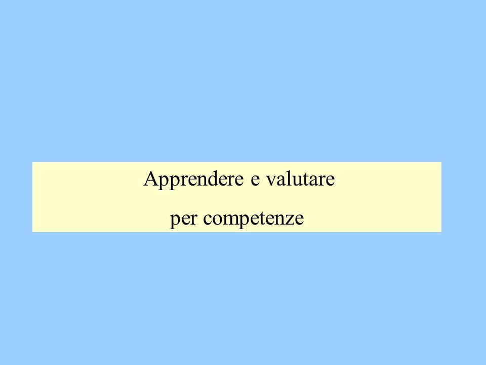 Apprendere e valutare per competenze