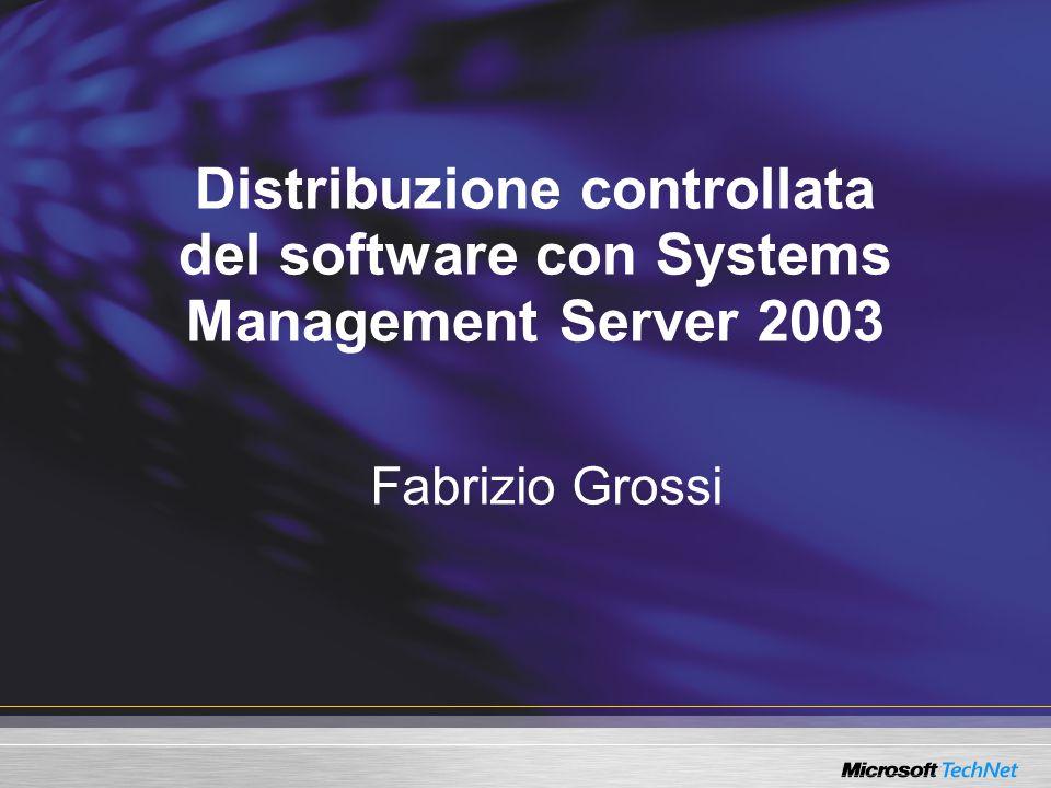 Overview Come SMS distribuisce il Software Gestione dei Distribution Point Configurazione della Software Distribution e dell'Advertised Programs Client Agent