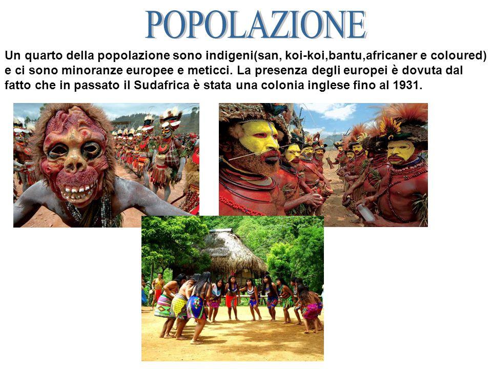 Un quarto della popolazione sono indigeni(san, koi-koi,bantu,africaner e coloured) e ci sono minoranze europee e meticci.